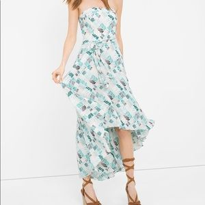 White House Black Market Fit and Flare Hi Lo Dress